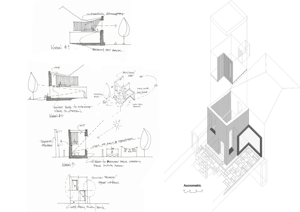 Architectural Farm Stiles Drawing